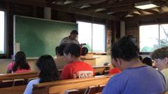 Singing Church on Micronesian Island of Yap Stock Footage