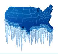 american deep freeze - stock illustration