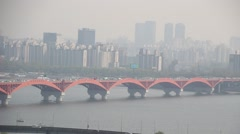 HAN RIVER IN SEOUL Stock Footage