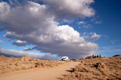 Off road recreation alabama hills above lone pine Stock Photos