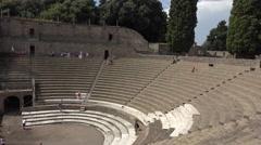Naples Italy Pompeii Roman Amphitheater stairs 4K 049 Stock Footage