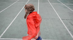 Little boy pretend as pilot spinning around Stock Footage
