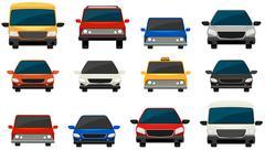 Set of vehicles - stock illustration