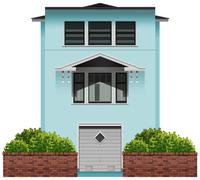 A tall commercial building Stock Illustration