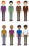 A group of faceless adults Stock Illustration