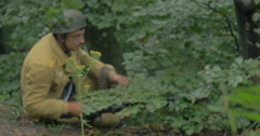 German soldier camouflage 04 Stock Footage