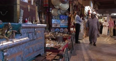 Footage of Stalls Inside Souk Mutrah (4K) Stock Footage