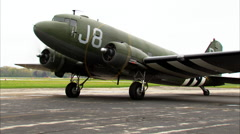 WWII Military Transport C-47 Dakota Systems Check Stock Footage