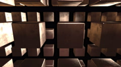 Stock Video Footage of Abstract Cubes Background 15