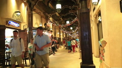 Interior view of the Souk Madinat Stock Footage