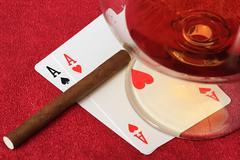Two aces. Stock Photos