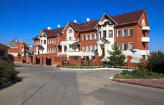 Modern townhouse. Stock Photos