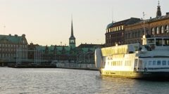 0622 UHD Sightseeing of Copenhagen from the boat Stock Footage