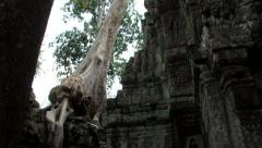 Tilt Down Mysterious Ancient Temple, Angkor Wat Cambodia 8181 Stock Footage