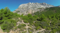 Sainte Victoire Mountain - Provence - Aerial view Stock Footage