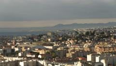 4K time lapse city of Nice and the airport Stock Footage