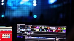 Stock Video Footage of Software to mix music in Moscow Hall night club.