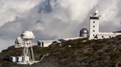Fullhd time lapse, la palma, observatories Stock Footage