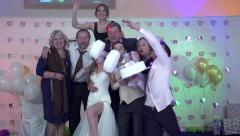 Stock Video Footage of Wedding Cake Drop Slow Motion