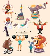 Stock Illustration of Circus Icons Set