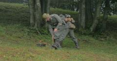 German soldier mining 02 Stock Footage