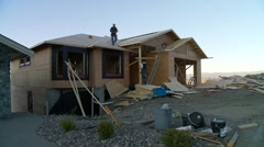 Stock Video Footage of time-lapse, roofing on bungalow