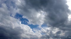 Spring Clouds And Sky Stock Footage