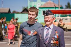 Unidentified veteran during the celebration of Victory Day. GOME Stock Photos