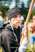 Stock Photo of Warrior participant of VI festival of medieval culture