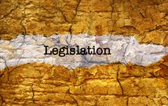 legislation grunge concept - stock illustration