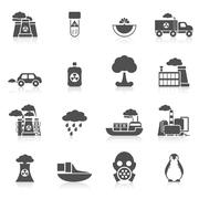 Pollution Icon Black Stock Illustration