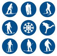 Stock Illustration of Winter sports designs