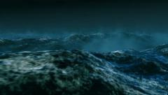 Stormy clouds over dark ocean Stock Footage