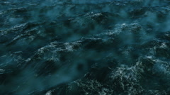 Ocean with rolling waves, view from a height of 300 meters Stock Footage