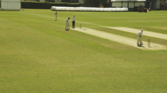 Cricket match at High Wycombe cricket club.-L - stock footage