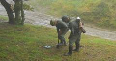 German soldier mining 04 Stock Footage