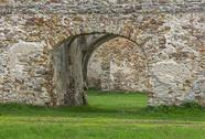 Stock Photo of fragment of stone old ruins