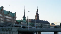 0624 UHD Sightseeing of Copenhagen from the boat Stock Footage