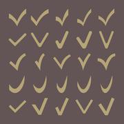 Set of 25 Different  Check Marks Stock Illustration