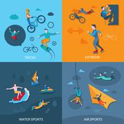Extreme Sports Set - stock illustration