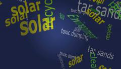 Falling Environment Words Stock Footage