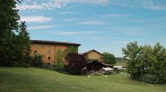 Summer in Villa Sparina, Gavi, Italy. Time-lapse - stock footage