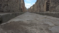 Naples Italy Pompeii Roman ancient road 4K 029 Stock Footage