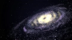 Shining galaxy spinning in the open space Stock Footage