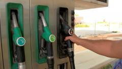 GasStation Gasoline Supplier Stock Footage
