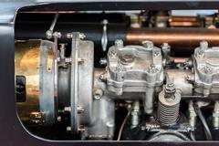 Old Car Internal Combustion Engine - stock photo