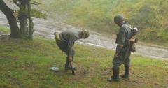 German soldier mining 05 Stock Footage