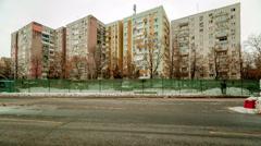 Architecture buildings establishments establishing shot time lapse eastern eu Stock Footage