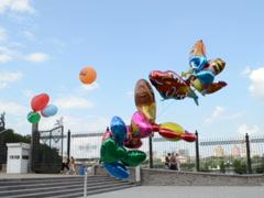 Balloons in air. Related clips are in my portfolio in 1920x1080. Stock Footage