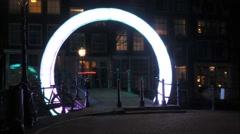 Timelapse light artwork Amsterdam Stock Footage